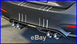1X Chrome Blue Glossy Real Carbon Fiber Car Right Side Dual Exhaust Pipe 63-89mm
