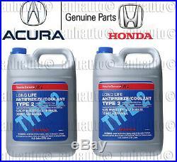 2x Gallons Genuine Honda Acura Long Life Antifreeze / Coolant (Blue Color)