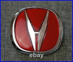Acura Integra Type-R Red Front Grille Badge Emblem OEM Genuine TypeR Type R