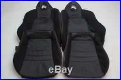 Custom Made Honda S2000 AP1 Real Leather Seat Covers Black Alcantara Suede