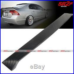 D Style Real Carbon Fiber Rear Roof Spoiler Wing Visor for 06-11 Civic Sedan