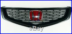 FRONT Type-S (Euro-R) Bumper Grille for Honda ACCORD CL7 + Red H Emblem Genuine