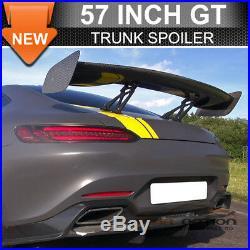 Fit Nissan 57 Inch 3-D GT JDM Real Carbon Fiber Deck Trunk Spoiler Wing