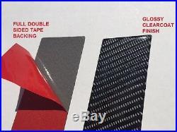Fits Honda Accord 4DR 2013-2017 Real Carbon Fiber Black Window Pillar Posts 6PCS