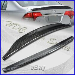For 2006-2011 Honda Civic 4-DR Duck Real Carbon Fiber Rear Trunk Spoiler Wing