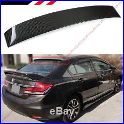 For 2006-2015 Honda CIVIC 8th 9th Gen 4dr Carbon Fiber Rear Window Roof Spoiler