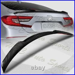For 2018-2021 Honda Accord Real Carbon Fiber Rear Deck Trunk Lid Spoiler Wing