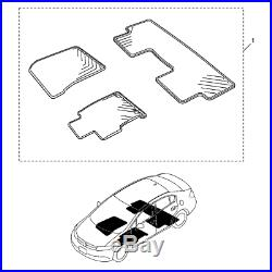 For Black All Season Floor Mats Genuine for Honda Civic 4-Door Sedan 2012-2015