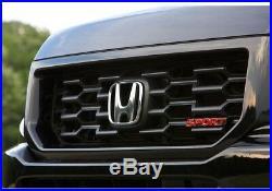 For Black Sport Grille Genuine OES for Honda Ridgeline 2009-2014