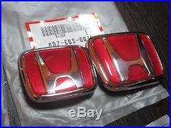 Front + Rear Emblems H red Genuine JDM Honda Civic Ek9 Type-R 96-00 (EG 92-95)