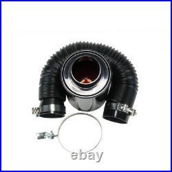 GEnuine 3 Filter Carbon Fiber Car Induction Cold Air Intake System+Intake Hose