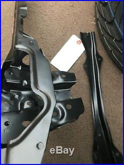 Genuine 02-06 Rsx Tie Bar Radiator Support Bracket Acura Hood Latch Mnt 2-piece