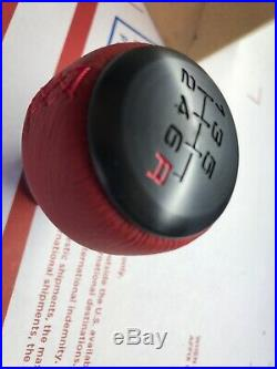 Genuine 2016+ Honda Civic Type R 6 Speed Red Leather Wrapped Shift Knob FK8