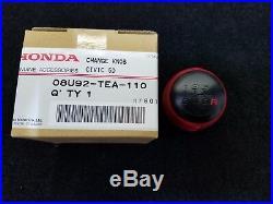 Genuine Honda Civic Type R 6 Speed Red Leather Wrapped Shift Knob 08U92-TEA-110