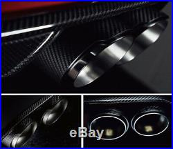 Glossy Black Real Carbon Fiber Auto Car Right Exhaust Dual Pipe Muffler End Tip
