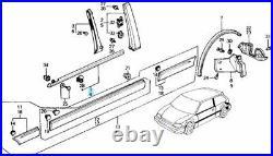 HONDA CIVIC EF9 SiR Genuine Front Door Window Molding Right & Left Set Pair OEM