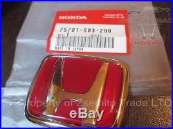 Honda Civic EK9 Type R FRONT AND REAR EMBLEMS JDM Red
