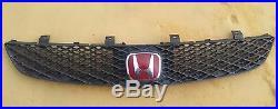 Honda Civic EP3 Type R Si FRONT EMBLEM BADGE 2001-05 JDM H Red Genuine OEM