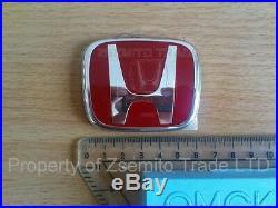 Honda Accord 2003-12 FRONT REAR RED EMBLEM JDM H Genuine OEM Badge