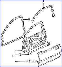 Honda Genuine OEM CIVIC EG4 EG6 1995 FRONT DOOR SUB SEAL RH LH Set