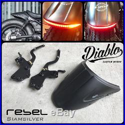 Honda Rebel CMX 300 500 2017 Tail Tidy Short Rear Fender Led Light Fairing Custo