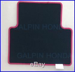 New Genuine Honda CIVIC Type R Red / Black Carpet Floormats 83600-tgh-a01zb