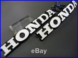 New Genuine Honda NOS CB750K2 Fuel Gas Tank Emblem Set 1969-1976 87121-341-000