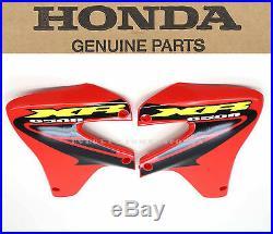 New Genuine Honda Radiator Shroud Set 2000-2007 XR650 R OEM Fighting Red #X25