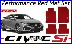 New Genuine Honda Red Hfp Carpet Mats 2017- 2019 CIVIC 2 Door Si 08p15-tbj-110a
