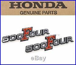 New Genuine Honda Side Cover Emblem Set 1971-1973 CB500 K0 K1 K2 Four OEM #V31