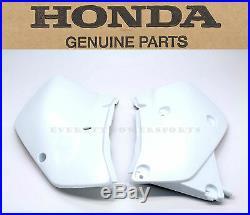 New Genuine Honda Side Panels 2000-2007 XR650 R OEM Left Right Ross White #a98