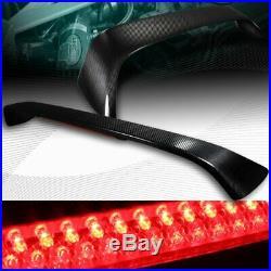 Real Carbon Fiber Rear Trunk Spoiler+led Brake Light Fit 96-00 Honda CIVIC 2dr
